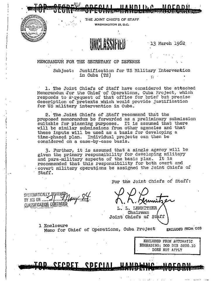 page one of operation northwoods click to enlarge